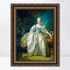 "Framed Canvas Giclee Print Madame Bergeret by Francois Boucher Wall Art 24""x32"""