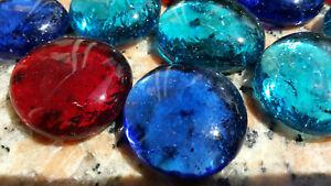GLASNUGGETS MIX Glassteine Muggelsteine Mosaiksteine Streudeko ca. 28 - 32 mm
