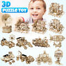 DIY Wooden Model Kits Mechanical Gear Drive 3D Puzzle Toy for Adult Teens