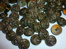 50 x Bronze Rope / Knot Design Metal Look 18mm Shank Back Buttons ( MB22C )