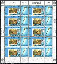Jersey vellen 299-302 Europa CEPT 1983 Grote werken menselijke geest CW € 25