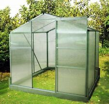 Compact Greenhouse with base. Size 129 x 129 x 195cm. Strong. 6mm Poly Panels.