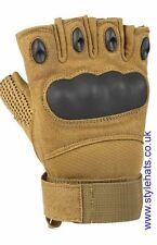 Finger-less Gloves Multi Purpose Sports Bikes Military Outdoor Games Large Brown