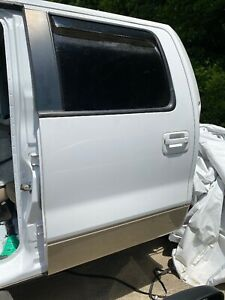 2009-2014 Ford F-150 Crew Cab Rear Left Driver Door - Lariat White And Gold