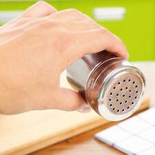 BM Stainless Steel Cruet Salt Pepper Seasoning Condiment Box Spice Shaker Bottle