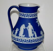 Antique Wedgwood Etruscan Jasperware Greek Key Offering to Peace Pitcher