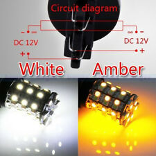 2PCS Amber/White T25 3157 Switchback 60SMD LED Turn Signal Light Bulb Dual Color