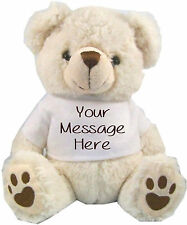PERSONALISED  WHITE TEDDY BEAR MOTHER'S DAY FLOWER GIRL BRIDESMAID WEDDING GIFT