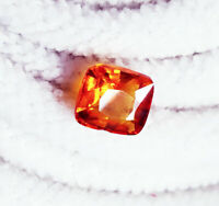 Natural Orange Sapphire Loose Gemstone Certified 4.35 Ct Cushion Shape
