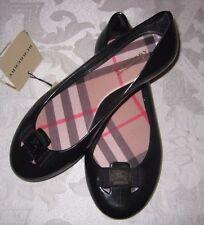 BNWT Beautiful Designer BURBERRY Girls Black Ballet Rubber Jelly Shoes 32 SPAIN