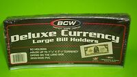50 LARGE BILL DELUXE CURRENCY HOLDERS, SEMI-RIGID, HOLDS U.S. & OTHER CURRENCY