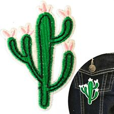 Cactus patch iron on Prickly desert plant blossoms  iron-on transfer patches