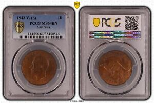 1942 (P) Y. Penny PCGS MS64BN Only One Graded Higher