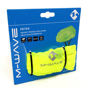M-Wave Neon Yellow Reflective Bicycle Helmet Cover