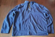 NAUTICA Jeans Pull Over 1/4 zip Jacket Blue L Large