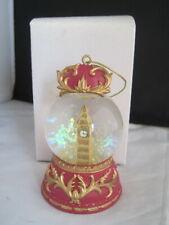 Big Ben London England Snow Globe Ornament Boxed Snowdome