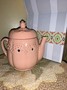 NIB Scentsy Tart Teapot Warmer Antique Pink Primitive Large Electric ❤️ tw4j11