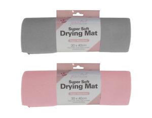 Dish Drying Mat Plain Colour Microfibre Glass 30 X 39 Cm- Kitchen Sink Drainer