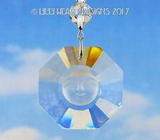 Crystal Clear Sun Face Suncatcher Car Charm Swarovski Beads Lilli Heart Designs