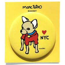 "*NWT* Marc Tetro - Chihuahua NYC Yellow Magnet 3"" Round"