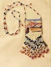 Beaded Necklace Southwest Style Fringe Pouch Medicine Coyote Desert Landscape