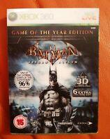 XBOX 360 GAME BATMAN ARKHAM ASYLUM GAME OF THE YEAR MANUAL LOVELY 3D GLASSES