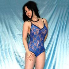 Sexy azul spitzenbody * l 46 * stretchig suave lencería * Teddy *...