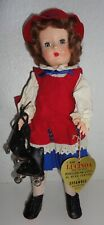 "Vintage Effanbee Lucinda 14"" Doll w/ Roller Skates & Original Tag"