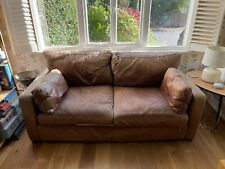 HOUSE OF FRASER LEATHER 2 SEATER SOFA