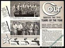 1942 COLT Woodsman Pistol AD Detroit Police & U.S. Treasury Shooting Team Photos