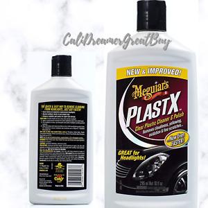 Meguiar's G12310 PlastX Clear Plastic Cleaner and Polish, 10 Fluid Ounces