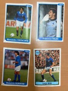 Panini Euro 96 Albertini Costacurta Riva Toldo 4 pieces
