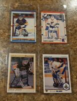 (4) Curtis Joseph Rookie card lot 1990-91 OPC Premier Upper Score Blues HOF? RC