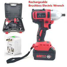 360n.m 68V Brushless Electric Impact Wrench Cordless Rechargeable 7800Ah Battery