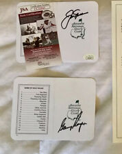 Jack Nicklaus & Gary Player Signed Masters Scorecards *JSA