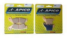 APICO FRONT & REAR BRAKE PADS FOR HONDA CRF250 CRF450 2007 :041-176