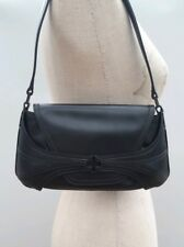 Bally Black Leather Handbag Shoulder Bag  Small Crystale
