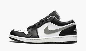 Nike Air Jordan 1 Low Black Grey White 553558-040 (Men's)
