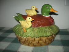Atlantic Mold Ceramic Duck & Ducklings Covered Tureen Serving Dish with Lid