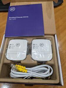 BT Broadband Extender 600 Kit, wired AV600 powerline - NEVER USED