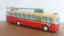 China Rojo Antiguo Juguete de hojalata Clockwork. chino MS 705 Carro Bus SHANGHAI -!!! Raro!!!