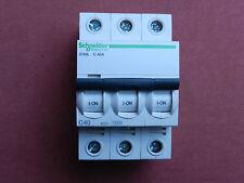 Réf A9F94340 DISJONCTEUR MAGNETIQUE SCHNEIDER IC60L 3P 40A TYPE C NEUF