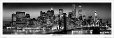 New York: Manhattan Negro-vista/cartel de la puerta 158cm X 53cm (nuevo Y Sellado)