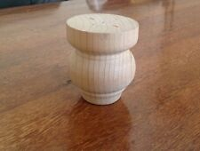 Furnware Pine Bun Feet 100mmH, Raw-Sale