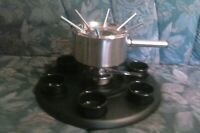 Roshco Deluxe Stainless Steel Fondue Set Chocolate/ Cheese Pot