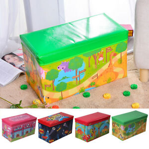 Kids Large Storage Toy Box Padded Seat Childrens Pop Up Folding Chest Girls Boys