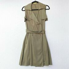 Gianni Bini Size Small Dress Double Breasted Sleeveless Trench Olive Military