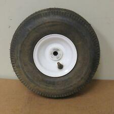 Unbranded Sawtooth Tire/rim assy 4.10/3.50-4 Go Kart Mower Lawn Cart Trailer