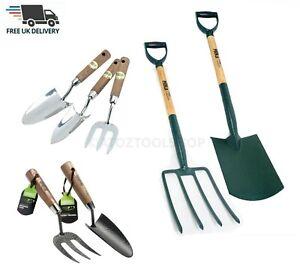 Heavy Duty Carbon Steel & Stainless Steel Garden Hand Fork & Trowel Digging Set