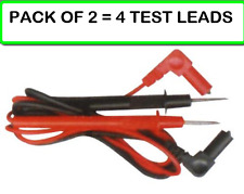 (2-PACK) XL-103 36 inch Multimeter Test Probe Leads With 90 degree Banana Plugs